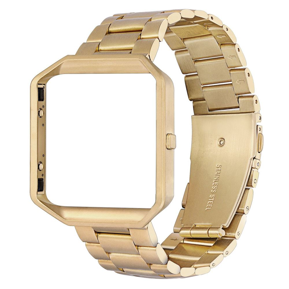 Stainless Steel Strap for Fitbit Blaze - Gold - screenhug