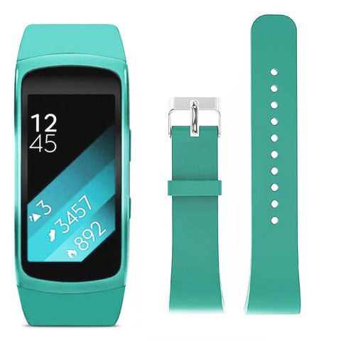 Rubber Strap for Samsung Gear Fit 2 - Teal