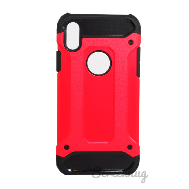Tough Armour Case for iPhone X - Red - screenhug