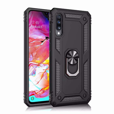 Tough Ring case for Samsung Galaxy A90 - Black