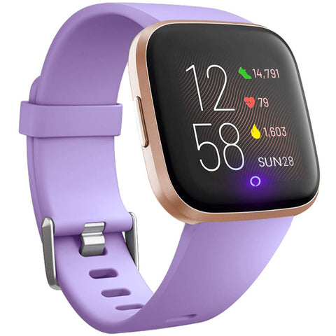 Rubber Strap for Fitbit Versa - Purple