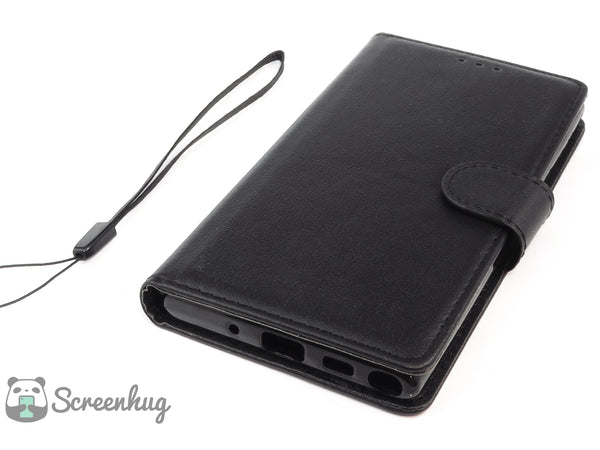 Classic wallet case for Samsung Galaxy Note 10 - Black - screenhug