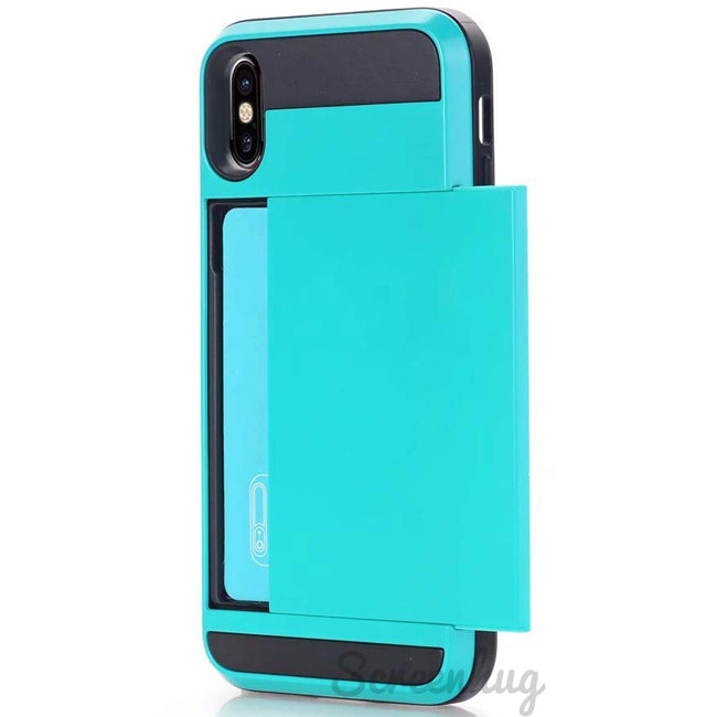 Card Pocket case for iPhone XS Max - Blue - screenhug