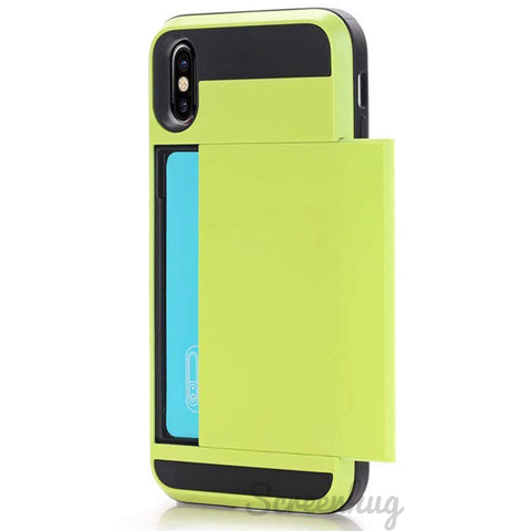 Card Pocket case for iPhone XS Max - Green