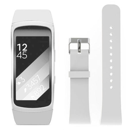 Rubber Strap for Samsung Gear Fit 2 - White