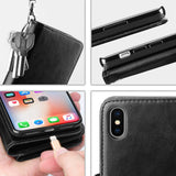 Big wallet case for iPhone XS Max - Black - screenhug