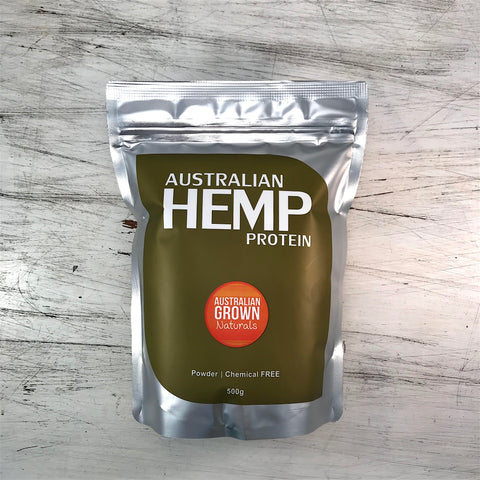 AUSTRALIAN GROWN NATURALS - HEMP PROTEIN POWDER 500G (ORIGIN AUSTRALIA)