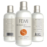 FEMI - FACIAL OIL + SANDALWOOD 100ml. (CERAMIC BOTTLE) CERTIFIED ORGANIC