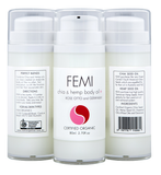 FEMI - BODY OILS CHIA & HEMP + ROSE OTTO AND GERANIUM 80ml (AIRLESS BOTTLE) CERTIFIED ORGANIC