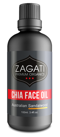 ZAGATI - FACE OIL + SANDALWOOD 100ml. CERTIFIED ORGANIC
