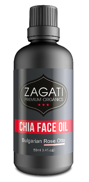ZAGATI - FACE OIL + ROSE OTTO 50ml. CERTIFIED ORGANIC