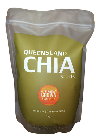 AUSTRALIAN GROWN NATURALS - CHIA SEEDS 1kg. (GROWN IN NORTH QUEENSLAND, AUSTRALIA) INSECTICIDE & CHEMICAL RESIDUE FREE