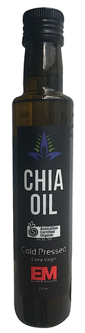 EM SUPERFOODS - CHIA SEED OIL 250ML (ORIGIN MEXICO) CERTIFIED ORGANIC
