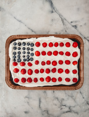 Brownie Flag Cake