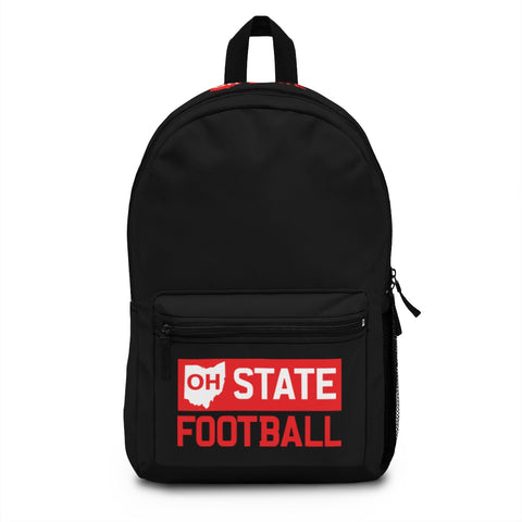 OH STATE FOOTBALL - BOOKBAG (Made in USA) - FOR THE OH, OSU Football  - for the oh, Ohio University football - for the oh