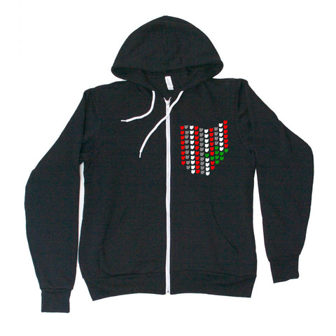 All Ohio Buckeye-Full Zip - FOR THE OH, OSU Football  - for the oh, Ohio University football - for the oh