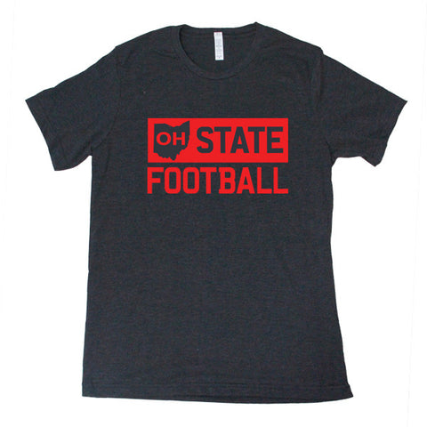 OH State Football (Black) - FOR THE OH