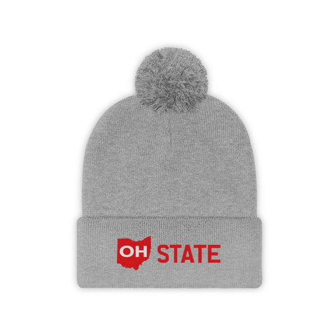 OH STATE Pom Pom Beanie - FOR THE OH, OSU Football  - for the oh, Ohio University football - for the oh