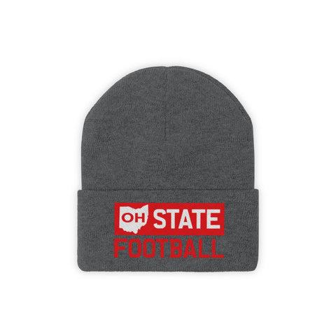 OH STATE  FOOTBALL - Knit Beanie - FOR THE OH, OSU Football  - for the oh, Ohio University football - for the oh