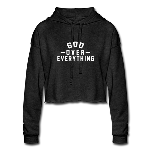 God Over Everything - Women's Cropped Hoodie - FOR THE OH, OSU Football  - for the oh, Ohio University football - for the oh