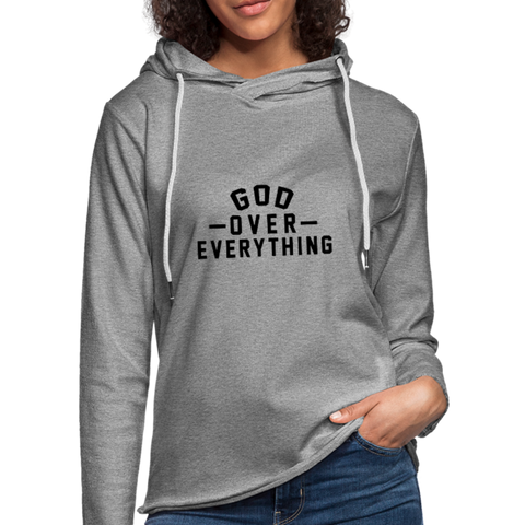 God Over Everything  - Unisex Lightweight Terry Hoodie - FOR THE OH, OSU Football  - for the oh, Ohio University football - for the oh