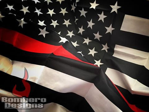 Thin Red Line Flag - Bombero Designs for firefighters