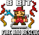 8 Bit Fire - Bombero Designs for firefighters