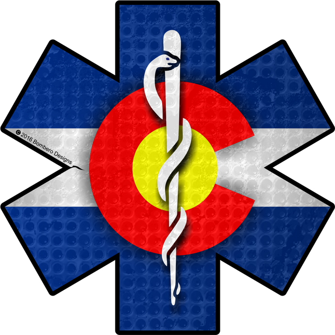 Colorado Star of Life Sticker - Bombero Designs for firefighters