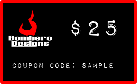 Gift Card - Bombero Designs for firefighters