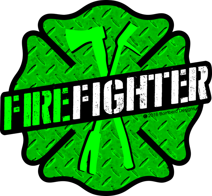 Green Maltese - Bombero Designs for firefighters