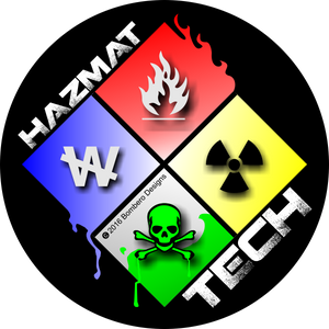 HAZMAT Tech Sticker - Bombero Designs for firefighters