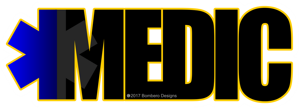 Medic Sticker - Bombero Designs for firefighters