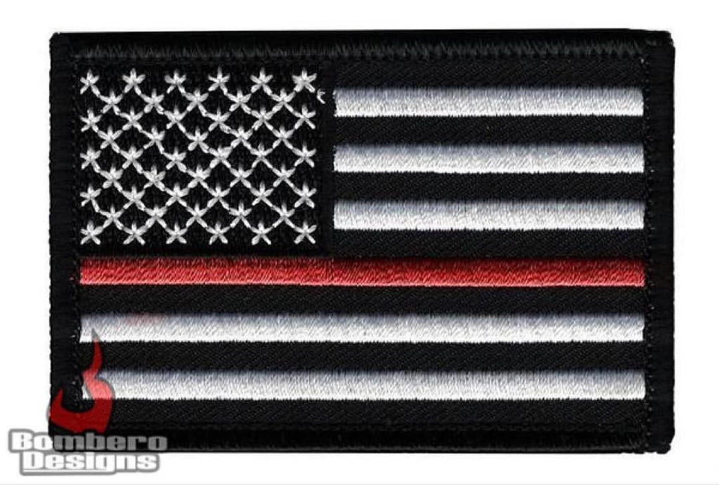 Thin Red Line Patch - Bombero Designs for firefighters