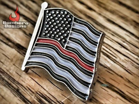 Thin Red Line Pin - Bombero Designs for firefighters