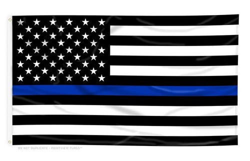 Thin Blue Line Flag - Bombero Designs for firefighters