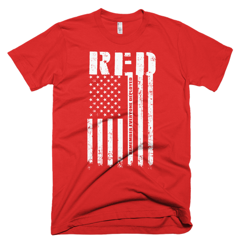 R.E.D. Remember Everyone Deployed - Bombero Designs for firefighters