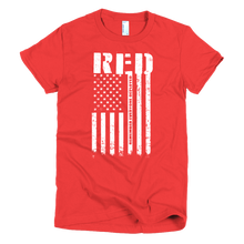 Load image into Gallery viewer, R.E.D. Remember Everyone Deployed - Womens - Bombero Designs for firefighters