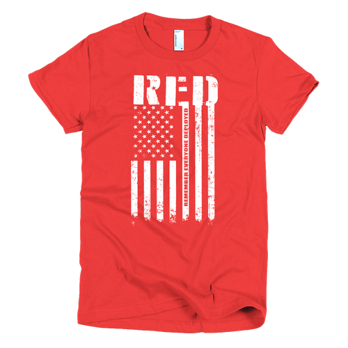 R.E.D. Remember Everyone Deployed - Womens - Bombero Designs for firefighters