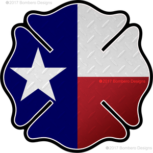 Texas Maltese Sticker - Bombero Designs for firefighters