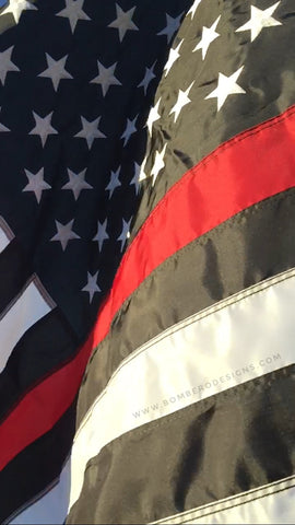 Heavy Duty Thin Red Line Flag - Bombero Designs for firefighters