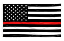 Load image into Gallery viewer, Thin Red Line Flag - Bombero Designs for firefighters