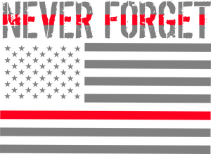 Never Forget - Womens - Bombero Designs for firefighters