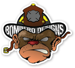 Hose Monkey Sticker - Bombero Designs for firefighters