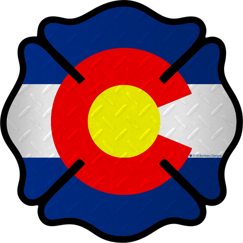 Colorado Maltese Sticker - Bombero Designs for firefighters