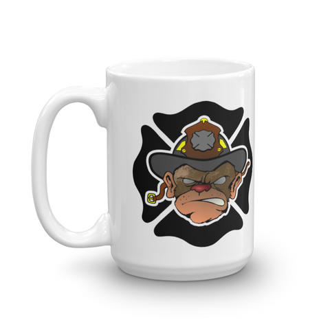 Hose Monkey Mug - Bombero Designs for firefighters