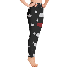 Thin Red Line Yoga Pants - Bombero Designs for firefighters