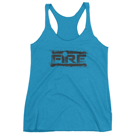 Fire Splatter - Women's Racerback