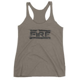 Fire Splatter - Women's Racerback - Bombero Designs for firefighters