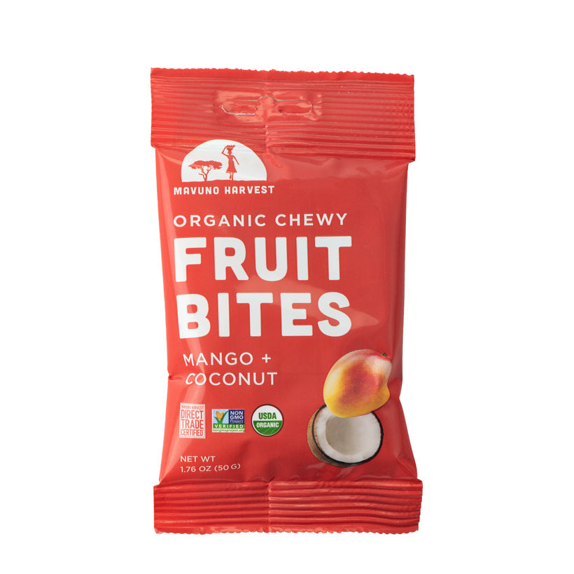 New products - organic chewy fruit bites!