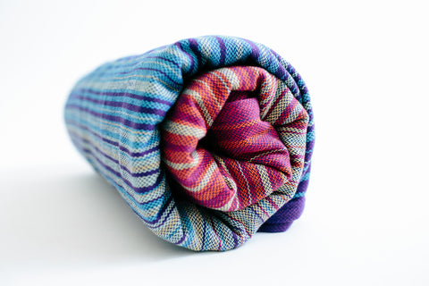 going uppy {wrap conversion} ring sling - Girasol Luscious Rainbow